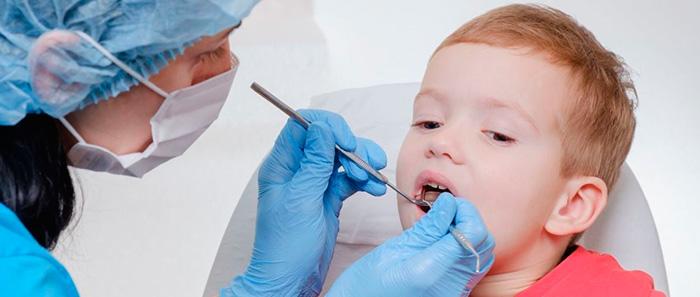 Лечение молочных зубов, фото